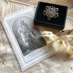 聖母子のブローチとホーリーカード