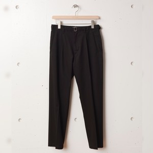 tilt The authentics / Belted 1Tuck Light Trousers[BLACK]