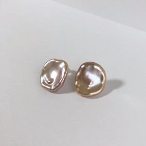Pink Petal Pearl Pieces - 002 / K18YG・Pair