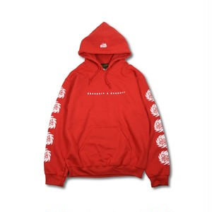 GOODSPEED equipment EVILACT(イーブルアクト) Splash Logo Hoodie (red)