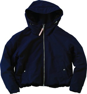 The Loft labo Lady's JEAN HOODED SHORT JACKET   NAVY