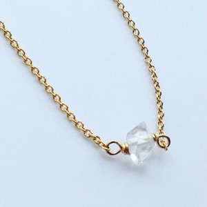 Dream Crystal* 一粒ハーキマーダイヤモンド ネックレス