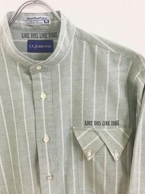 LIKE THIS LIKE THAT : C.F.JOHNSON ltd. twist stripe shirt (remake)