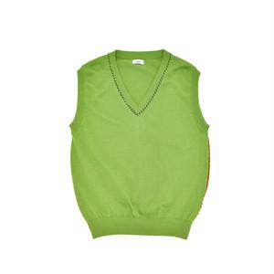 Allege Hand Stich Knit Vest Green  AH19S-KN04