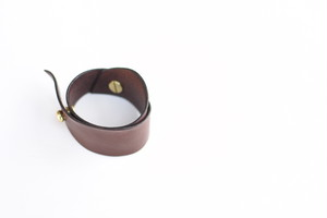 "【KLASICA】Leather Bracelet ""HIGH AND DRY"" - D.BROWN"
