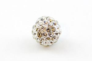 ラインストーンパヴェボール 1個 10mm クリスタル pve-crystal10