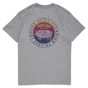 CIRCLE PORK BACK TEE/GRAY