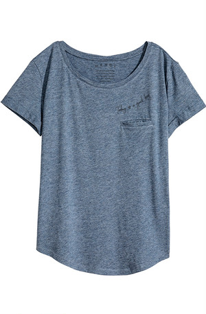 Whisper Pocket Tee - Indigo