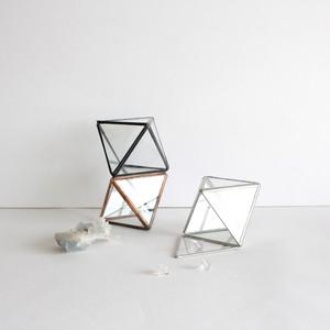 結晶構造ガラスケース [ Fluorite,正八面体 / クリアガラス ]