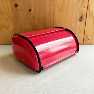 Kitchen Storage Metal Bread Box with Roll Up Lid オランダ