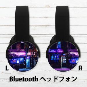 Bluetoothヘッドホン おすすめ おしゃれ メンズ ロック クール ヘッドホン ブルートゥース iPhone タイトル:ネオンに導かれて
