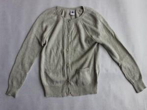 used、PETIT BATEAU、110cm、カーディガン、女の子用【★3】古着