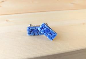 有田焼ジラフイヤリング(藍色)