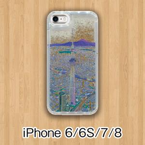 【受注生産】パノラマ浅草・夜景 グリッターケース iPhone6/6S/7/8用