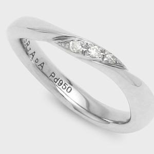 PORTADA BABY RING NOCTURNE(LADY'S MODEL)Pd950(ポルターダベビーリング ノクターン パラジウム950 ダイヤモンド)