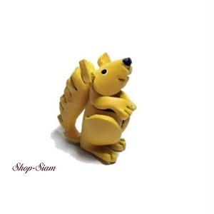 本牛革 アニマル キーチェーン リス・栗鼠/Squirrel ハンドメイド製