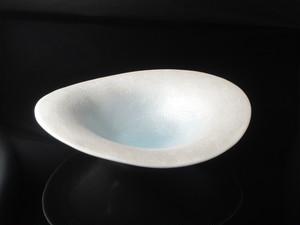 内ブルー吹タタキラスターナブリ7寸鉢