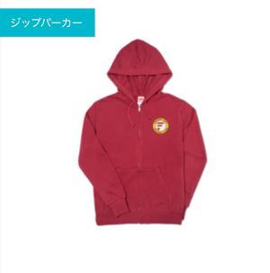 大人用福岡大学サッカー部 ジップパーカー(バーガンディ) サイズS〜XL