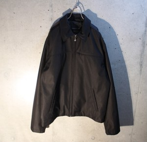 Poly Black Zip Up Jacket