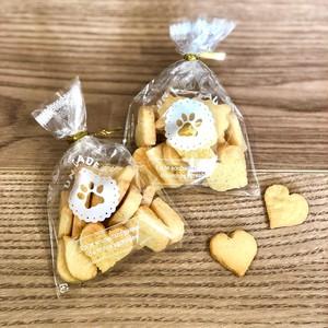 パウクッキー ラッピングバッグ S(10枚入・ビニタイ付)