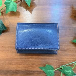 【水牛革】 ポップカラー三つ折り財布 <4色展開> 軽い ユニセックス コンパクト BOX型コインケース M6646