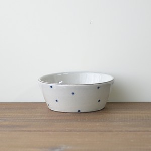 青い水玉の小鉢 小
