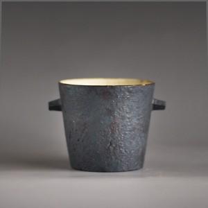 耳付きカップ(黒)