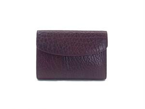 三つ折り財布 L ボルドー,黒