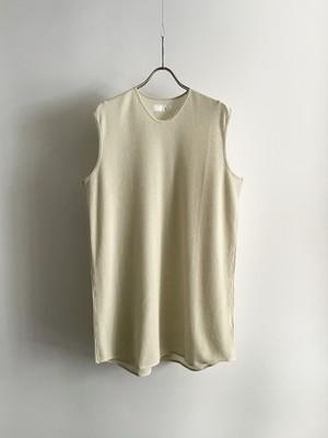 T/f Lv2 cotton waffle sleeveless top - matured white