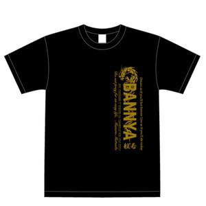 BANNYA-Tシャツ(黒/金文字)