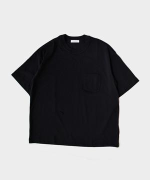 MATSUFUJI Short Sleeve Pocket T-shirt BLACK