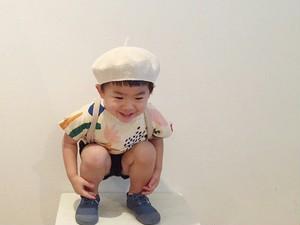 【M/L・生成り】コットンベレー帽