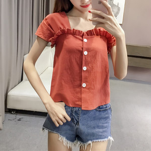 simple frill tops 6633