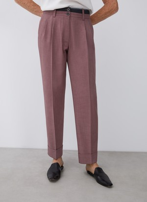 STRAIGHT TROUSERS WITH DARTS