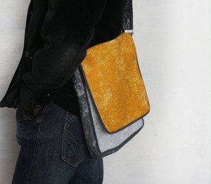 Felted Messenger Bag by Vaivanat (Amber Yellow)