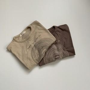 194. logo tee / beige.brown