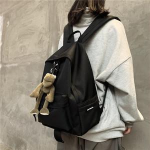 【バッグ】 カジュアル シンプル 切り替え 無地 ファスナー リュックサック27156739