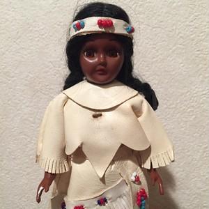 インディアン人形ホワイトレザー