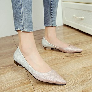 【pumps】2018 autumn new fashion pointed toe low heel pumps