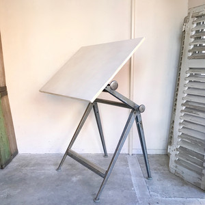 """Reply"" Drafting Table ""Wim Rietveld & Friso Kramer"" Ahrend de Cirkel 1960's オランダ / Grey"