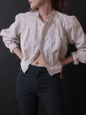 1900's Victorian / White Calico Blouse