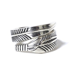 Vintage Sterling Silver Mexican Feather Ring