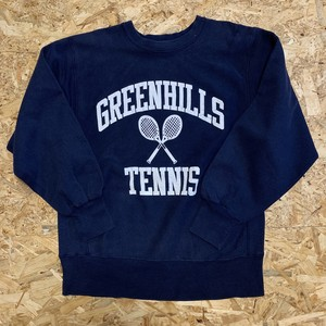 1980's Champion REVERSE WEAVE Sweat Shirt GREENHILLS TENNIS Made in U.S.A. 【19111619】