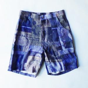 (予約商品 2018年3月中旬発送予定) Print Linen Shorts