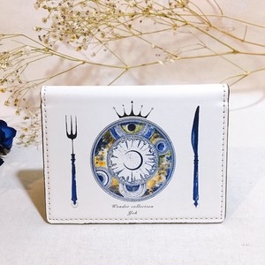 【白】宙料理 カードケース