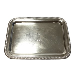 40's Vintage Friedman U.S. NAVY Anchor Silver Tray