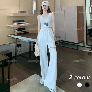 【セット】「単品注文」大活躍特別なデザイン ファッションノースリーブUネックキャミソール+カジュアルパンツ29023800