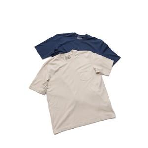 FEDELI/フェデーリ SUPIMAコットン オーバーサイズ クルーネック ポケットTシャツ
