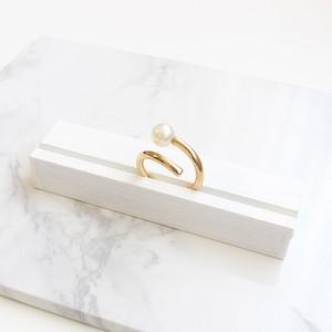 ■spiral pearl ring -k10 gold-■ スパイラルパールリング k10ゴールド