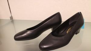 銀座ヨシノヤ ヨシノヤ YO-BR-16470 D靴型(細い)の外反母趾対応プレーンパンプス